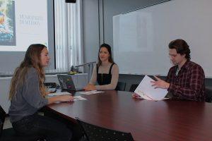 Étudiantes sur le mandat : Amélie Rimac et Sarah Vincent